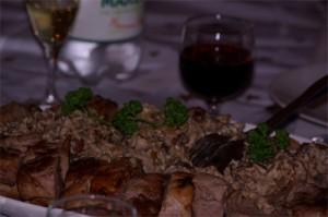 Mignon de porc aux champignons et aux châtaignes