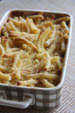 Le gratin de macaronis au gorgonzola à partager