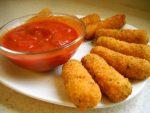 Sticks de mozzarella pour apéritif